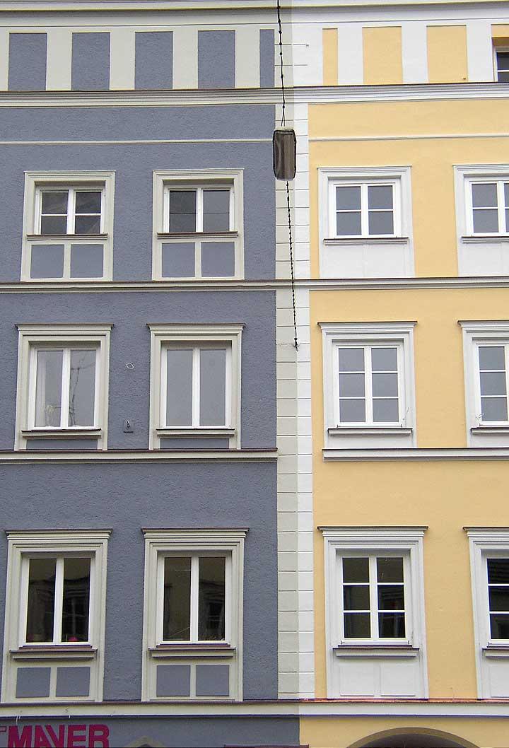 Stadthäuser Hut-Mayr und Dr. Schleich-Schindler, Stadtplatz Neuötting